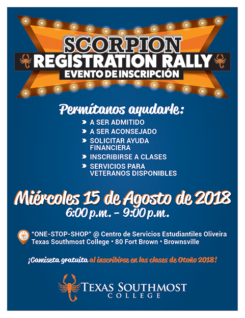 Registration Rally 2018-08-15 Flyer Spanish